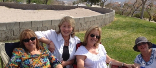 Marsha Hicks, Joyce Tipton, Helen Rice and Joanne Mineo..Watching Horseshoes at the Park!